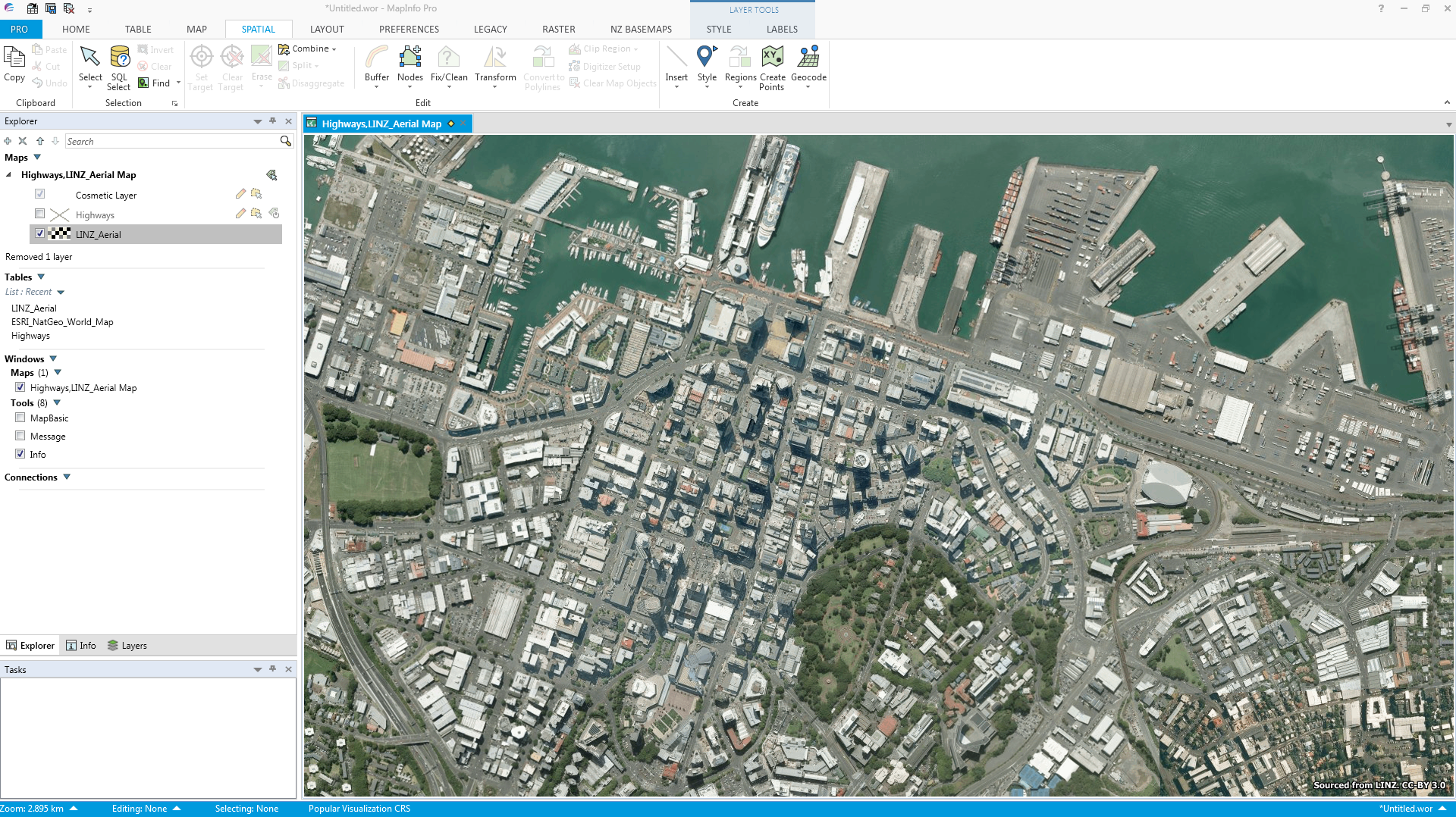 How to access the latest Aerial Imagery for New Zealand in MapInfo Pro