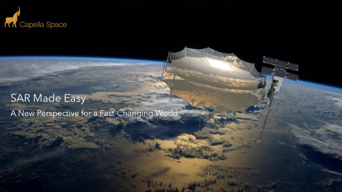 Capella image of earth from space