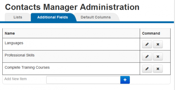WebEOC Contacts Manager Plugin Administration