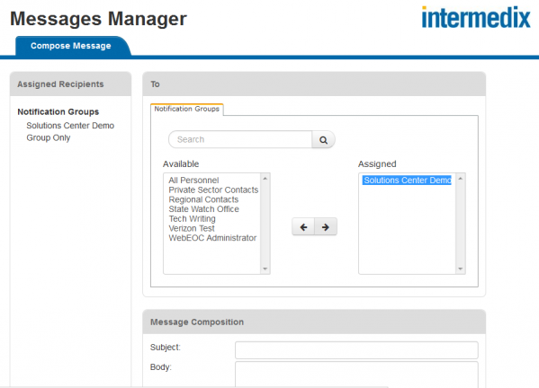 Messages Manager - Compose a message