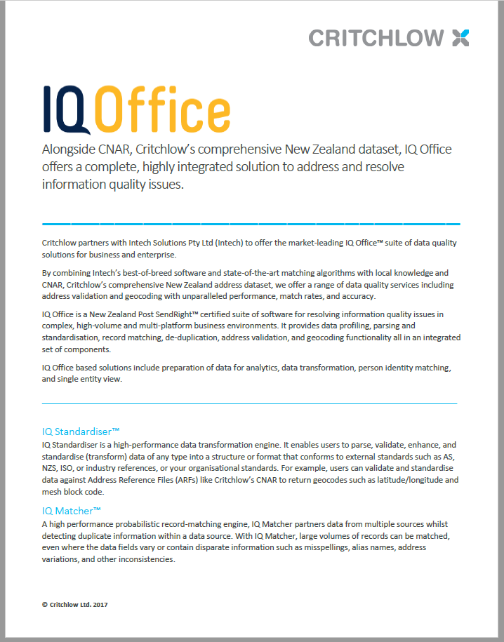 IQ Office Datasheet
