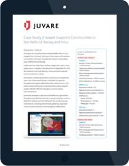 Juvare Harvey and Irma case study