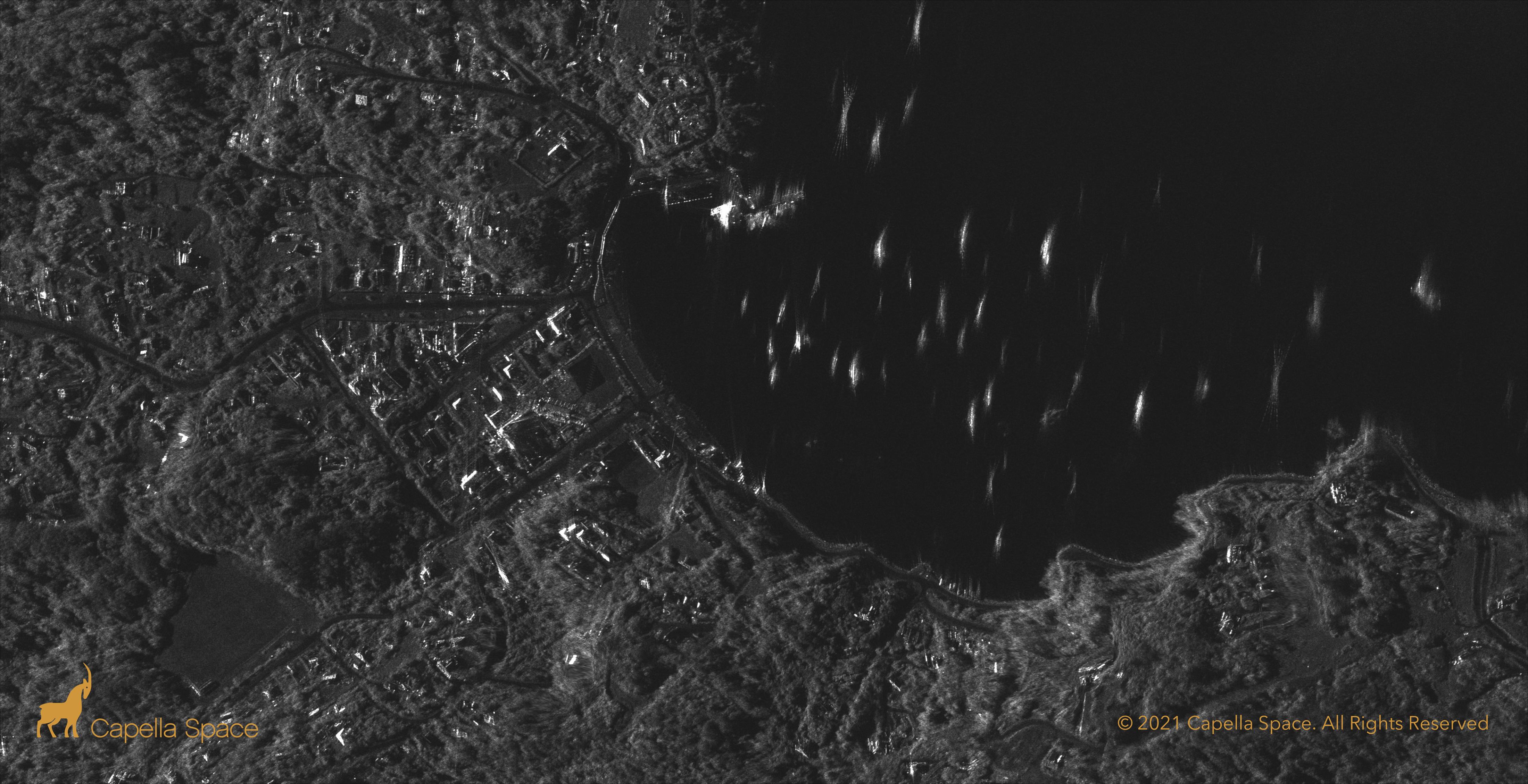 Oban Stewart Island NZ satellites picture