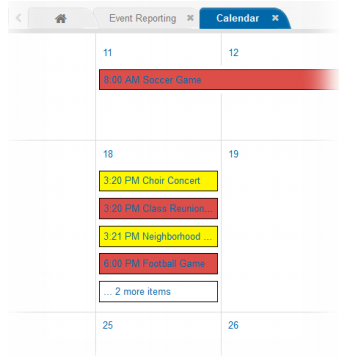 WebEOC 8.5 - Improved Calendar Features