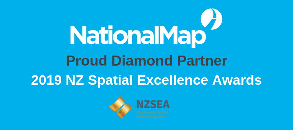 NationalMap, the proud Diamond Partner of 2019 NZ Spatial Excellence Awards