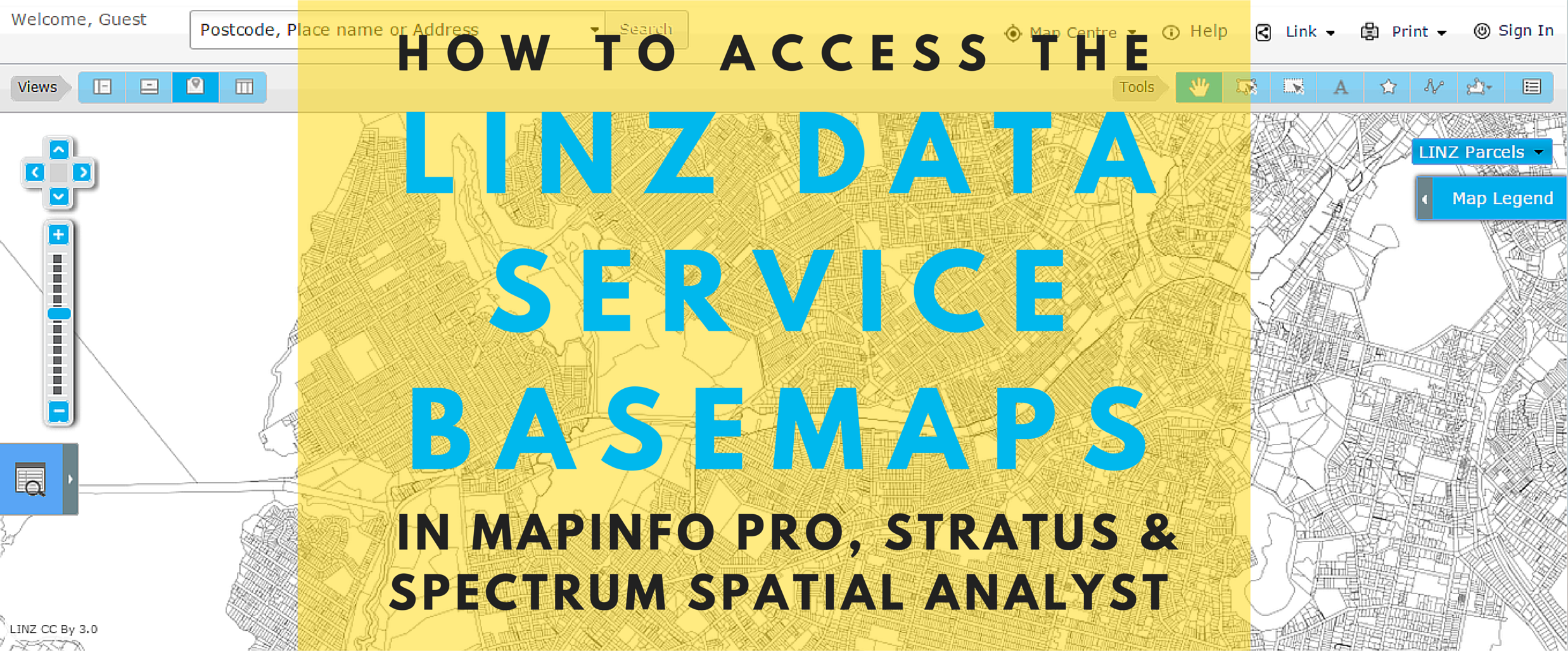How to access the LINZ Data Service basemaps in MapInfo Pro and Spectrum Spatial Analyst