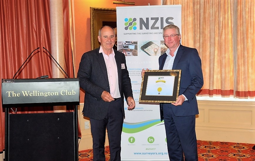 Steve Critchlow honoured as NZIS Fellow.
