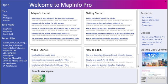 MapInfo Pro v17 is here and it's stronger, smarter and simpler thanks to you.